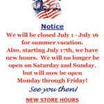St Paul's Gift Shop - Summer Hours